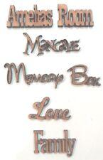 PERSONALISED SCRIPT WOODEN NAME PLAQUE door sign toy box scrapbook wedding craft
