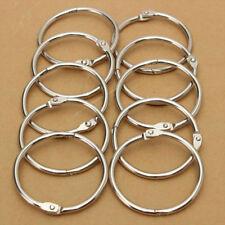 More details for 25mm silver metal hinged split binding ring album book binder key chain