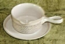 DENBY CHANTILLY SOUP BOWL AND STAND