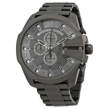 2018 Diesel Mega Chief Chronograph Grey Dial Gunmetal Men's Watch DZ4282