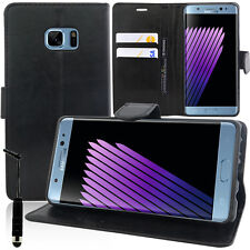 Cover Custodia Portafoglio Video NERO per Samsung Galaxy Note FE + Pennino