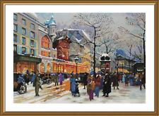 Counted Cross Stitch Kit NOVA SLOBODA CP3316 - Legends of Paris. Moulin Rouge