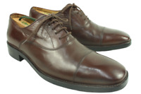 RUSSELL & BROMLEY London Brown Leather Cap Toe Lace Up Oxfords UK 7