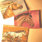 ACEO Horse Set Of 3 Original Paintings By Motyl