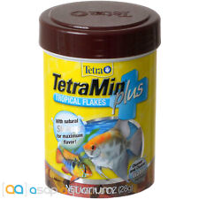 Tetra TetraMin Plus Tropical Flakes Fish Food 1 oz FAST FREE USA SHIPPING