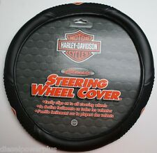 harley davidson rubber shield bar steering wheel cover leather grip motorcycle