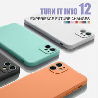 Square Solid Color Silicone Case Cover For iPhone 11 Pro Max XS XR X 8 7 Plus 6s