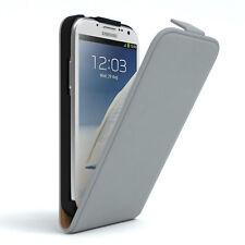 Tasche für Samsung Galaxy Note 2 Flip Case Schutz Hülle Cover Hellgrau
