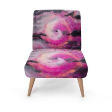 Pink Vortex Designer Occasional Chair, Handmade to order Sustainable Beech Wood