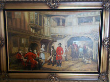 Stunning Piece from Dennis Large Antique Oil Canvas Painting Framed
