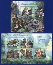 Echte Briefmarken mit Vögel-Motiven aus Komoren