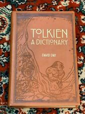 TOLKIEN A DICTIONARY DAVID DAY LEATHER COVER BINDING ILLUSTRATED 2013 NEW