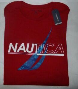 NWT MENS NAUTICA S/S T-SHIRT~RED / BLUE~SZ XXL