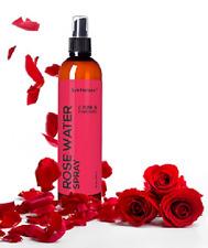 ORGANIC ROSE WATER SPRAY 100% Pure & Natural Facial Toner Floral Scent 8oz