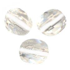 50 Perles Facettes cristal de boheme 4mm - CRISTAL WHITE LINED
