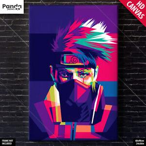 Naruto Shippuden Kakashi Poster Canvas Anime Wall Art Print (60×90cm/24×36in)