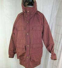 Woolrich Men's Jacket Wool Lined Size Medium M Plaid Lining Hooded Raincoat