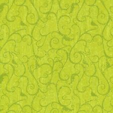 "K&Company 12"" x 12"" Scrapbook Paper Halloween Green Swirl Glitter Paper"