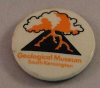 Vintage South Kensington Geological Museum Pin Pinback Button Badge