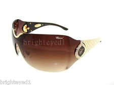 Authentic CHOPARD 23KT Rose Gold Plated Shield Sunglasses SCH 883S - 300 *NEW*