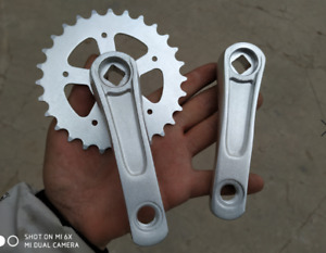Bicycle Crank 102mm Crankset 28T Chainring For Children Bike Folding Bike
