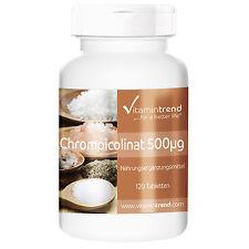 Chrom 500µg (38.75€/100g) 120 Tabletten - Reinsubstanz - Vitamintrend