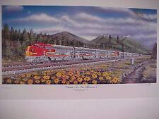 """0413 Railroad Art,Winfield Santa Fe/""""Meet at Minchin TX ,18X24/"""" s//n"""