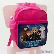 Chicas Mochila escolar Harry Potter Hermione Bruja Asistente Childrens Bolsa Rosa ET05
