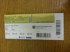 08/02/2014 Ticket: Norwich City v Manchester City  . Thanks for viewing this ite