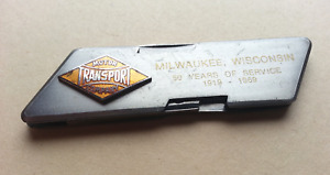 Vintage Motor Transport Company Milwaukee Advertising Pocket Knife Clipper