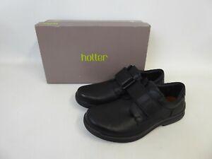 Hotter - Black Leather 'Sedgwick' Shoes - UK Size 7 STD Fitting