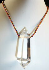 TIBET High Altitude Quartz Crystal Double Terminated. PENDANT PENDULUM. HEALING