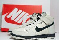 Nike Dunk High Shoe Light Bone Black 904233-002 Men's (RARE)