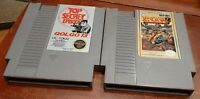 Nintendo NES Golgo 13 & P.O.W. loose carts, cleaned & tested, authentic