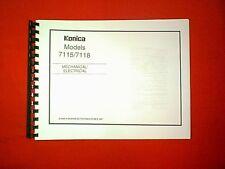 KONICA COPIER MODELS 7115 / 7118 MECHANICAL / ELECTRICAL / SERVICE MANUAL