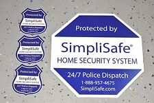 NEW SimpliSafe security yard sign, decal, post sticker INCLUDES 3 THREE STICKERS
