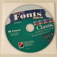 Cosmi Print Perfect Fonts Deluxe CD-ROM PC Computer Software Program Disk Only