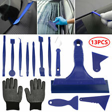 13Pcs/Set Car Window Film Tint Tools Kit Blue Gloves Vinyl Wrap Squeegee Scraper