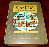 CatalinaStamps: Harris Standard World Stamp Album G-Q 1973 w/4000 Stamps, #D13