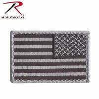 Black & Grey  Reversed American Flag  Patch  Hook and Loop Airsoft