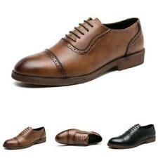 39-47 Mens Low Top Faux Leather Shoes Business Work Office Lace up Oxfords New L