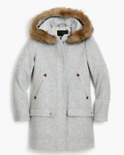 NWT J Crew Chateau Parka Stadium Cloth Wool Coat Heather Dusk Sz 6 Petite $365
