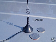 BLACK Dual Band Rare Earth Magnet Mag Mount Antenna BNC 144 440 MHz VHF UHF KS1