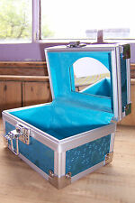 BLUE BUTTERFLY CHEST BOX BNIB MIRROR CLASP JEWELLERY BOX CASE
