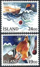 Iceland 1988 Boats/Christmas/Fishing/Greetings/Sailing/Animation 2v set (n23960)