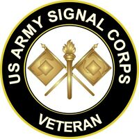 """Army Signal Corps Veteran 5.5"""" Sticker 'Officially Licensed'"""