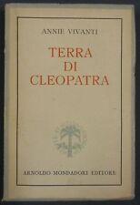 Vivanti TERRA DI CLEOPATRA 1943 Mondadori