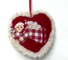 LES ALPES 011 8017-NATALE - Appendino a cuore c/angelo - cm.13x13