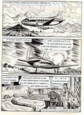 BOB LEGUAY PLANCHE ORIGINALE  REPORTAGE SUR LES SOUCOUPES VOLANTES PAGE 28