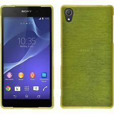 Coque en Silicone Sony Xperia Z2 - brushed vert pastel + films de protection